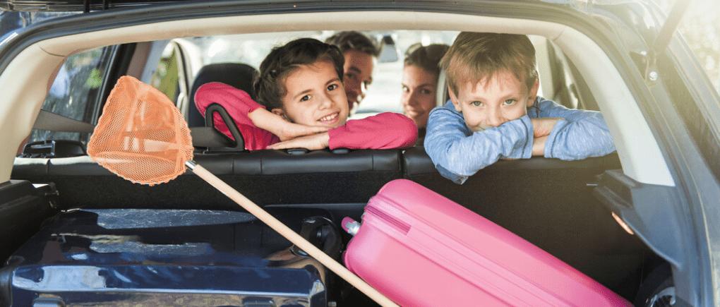 En carretera con los niños.